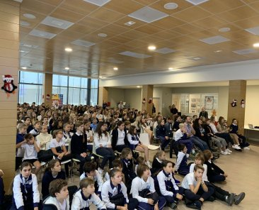 230 students came this morning
