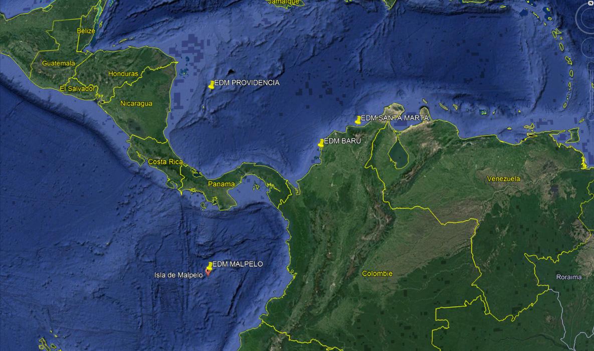 image de situation géographique des missions EDM en Colombie. 2018