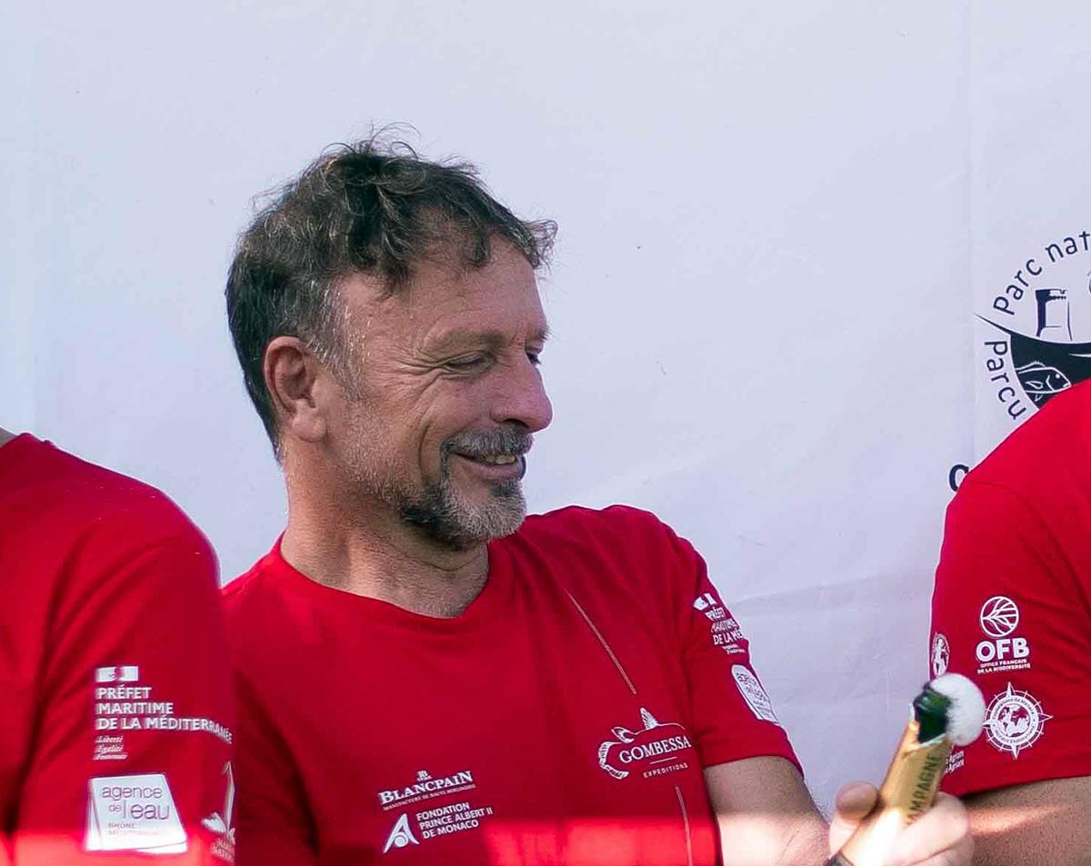 Roberto Rinaldi, aquanaut of the Gombessa 6 expedition. Monaco, 20 July 2021.