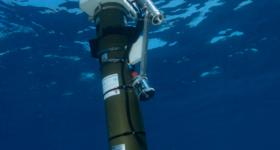 BGC-Argo float under water ©IMEV D.Luquet